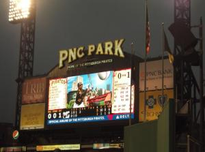 Such a beautiful ballpark in Pittsburgh. Cinci's was pretty nice too.
